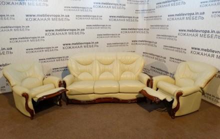 Продам Б/У кожаную мебель с Германии. Днепр. фото 1