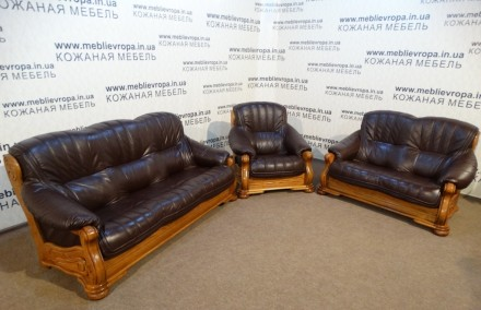 Продам Б/У кожаную мебель с Германии. Репки. фото 1
