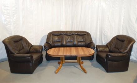 Продам Б/У кожаную мебель с Германии. Орехов. фото 1