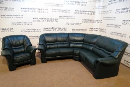 Продам Б/У кожаную мебель с Германии. Коростень. фото 1