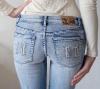 Новые джинсовые капри/бриджи на девочку 12-15 лет. Размер 27. Ткань 95% хлопок. . Одесса, Одесская область. фото 6