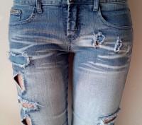 Новые джинсовые капри/бриджи на девочку 12-15 лет. Размер 27. Ткань 95% хлопок. . Одесса, Одесская область. фото 3