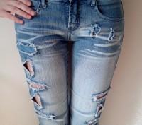 Новые джинсовые капри/бриджи на девочку 12-15 лет. Размер 27. Ткань 95% хлопок. . Одесса, Одесская область. фото 4