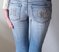 Новые джинсовые капри/бриджи на девочку 12-15 лет. Размер 27. Ткань 95% хлопок. . Одесса, Одесская область. фото 7