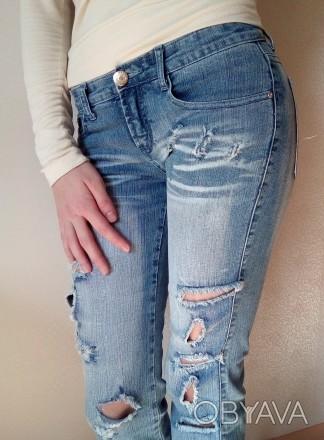 Новые джинсовые капри/бриджи на девочку 12-15 лет. Размер 27. Ткань 95% хлопок. . Одесса, Одесская область. фото 1