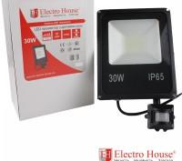 LED прожектор с датчиком движения 30W IP65 ElectroHouse EH-LP-213. Киев. фото 1