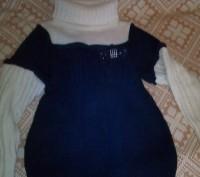 теплый свитер, дочка носила с 5 лет, поэтому со временем на рукавах появились ка. Днепр, Днепропетровская область. фото 2
