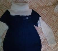 теплый свитер, дочка носила с 5 лет, поэтому со временем на рукавах появились ка. Днепр, Днепропетровская область. фото 3