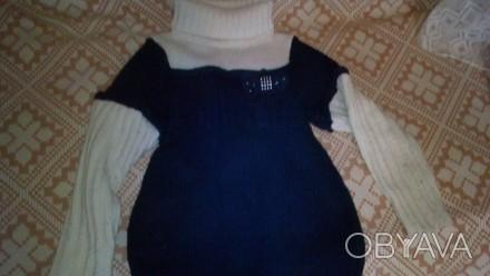 теплый свитер, дочка носила с 5 лет, поэтому со временем на рукавах появились ка. Днепр, Днепропетровская область. фото 1