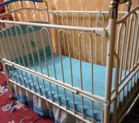 Кроватка  трансформеры голубого цвета разлаживается до 7-9лет,балдахин высокий,в. Павлоград, Днепропетровская область. фото 5