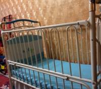 Кроватка  трансформеры голубого цвета разлаживается до 7-9лет,балдахин высокий,в. Павлоград, Днепропетровская область. фото 6