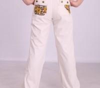 Размеры 122,128,134,140,146,152,158 Брюки демисезонные на девочку из натуральн. Киев, Киевская область. фото 8