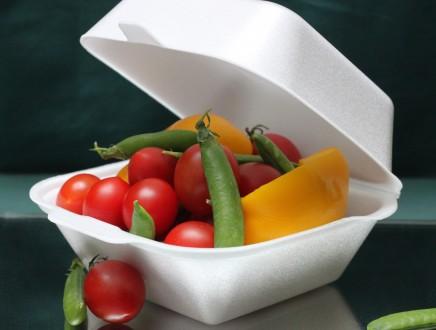 Ланч бокс из полистирола сендвич, контейнер пищевой, одноразовая посуда. Киев. фото 1