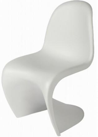 монолитный литой стул Пантон пластиковый белый красный чёрный матовый. Киев. фото 1