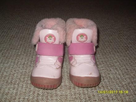 Дитячі зимові шкіряні чобітки 25 р.. Львов. фото 1