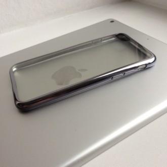 Прозрачные силиконовые чехлы с цветной окантовкой для iPhone  надежно защитят Ва. Днепр, Днепропетровская область. фото 4