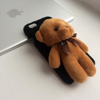 Чехол с мишкой для iPhone 6/6S – симпатичный чехол из пластика, можно использова. Днепр, Днепропетровская область. фото 3